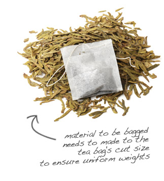 tea bag cut size