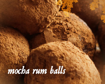 [ mocha rum balls ] ~ from Monterey Bay Spice Co