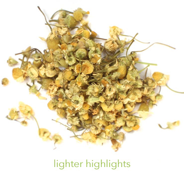 dried chamomile for hair rinse