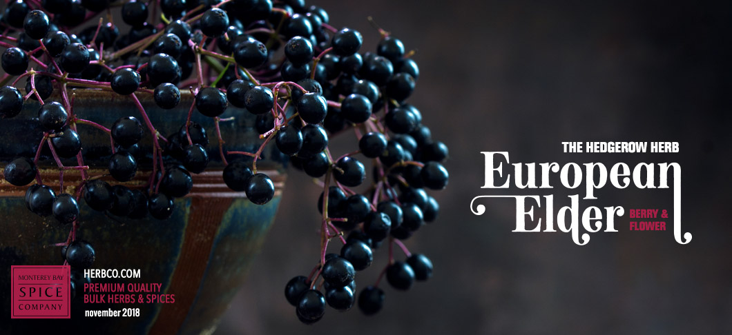 [ The Hedgerow Herb: European Elder - Elderberry and Elder flower ] ~ from Monterey Bay Spice Company