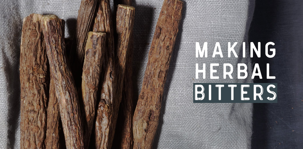 [ MAKING HERBAL BITTERS ] ~ from HerbCo