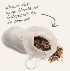 [ tea filter sock tip: The use of a filter sock to brew chicory in tea or as a coffee substitute eliminates disposable waste.   ~ from Monterey Bay Spice Company ]