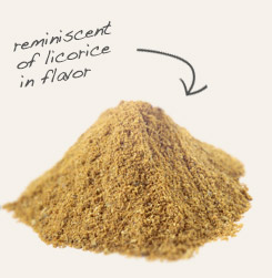 [ tip: Combine organic powdered fenugreek seed with fennel seed powder when making 5-spice panch puran seasoning used in Indian recipes. ~ from Monterey Bay Spice Company ]