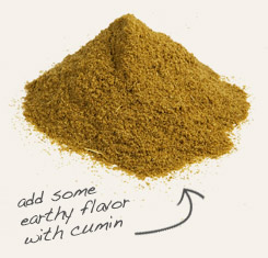 [ cumin powder tip: Pair powdered clove with cumin powder in Middle Eastern recipes.  ~ from Monterey Bay Spice Company ]