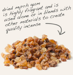 [ tip: Frankincense and myrrh pair together beautifully in incense blends.  ~ from Monterey Bay Spice Company ]