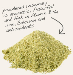 [ tip: Blend organic powdered onion with powdered rosemary in soups and sauces. ~ from Monterey Bay Spice Company ]