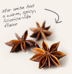 [ star anise tip: Combine powdered clove with star anise to make flavored gin, tea blends and mulling spice mixes. ~ from Monterey Bay Spice Company ]