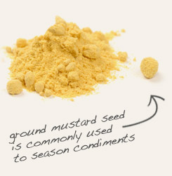 [ mustard seed tip: Blend celery seed with mustard seed powder to flavor and garnish egg and potato salads. ]