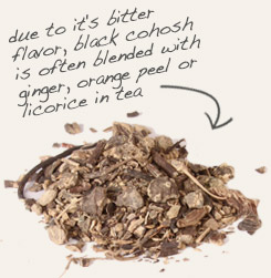 [ tip: black cohosh root is often combined with blue cohosh root, although the plants are not related