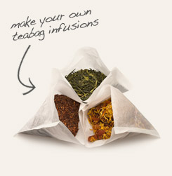 [ tip: Make your own DIY press 'n brew tea bags let you customize the strength of your tea. Use these bags with our loose leaf teas or your own botanical blends for easy infusions. ~ from Monterey Bay Spice Company ]
