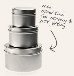 [ tip: These round tins are great for storing tea in your own pantry, or for filling and transforming into gifts for others. ~ from Monterey Bay Spice Company ]