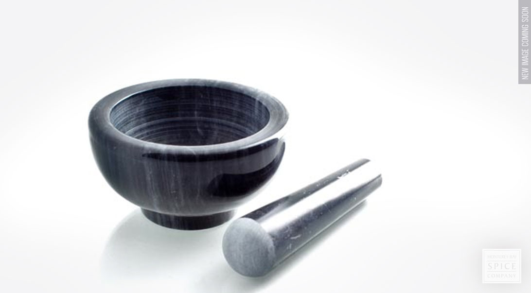 Marble Mortar And Pestle For Bulk Herbs Or Spices From