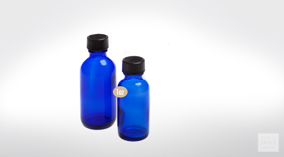 1 oz. cobalt blue bottle w/ lid