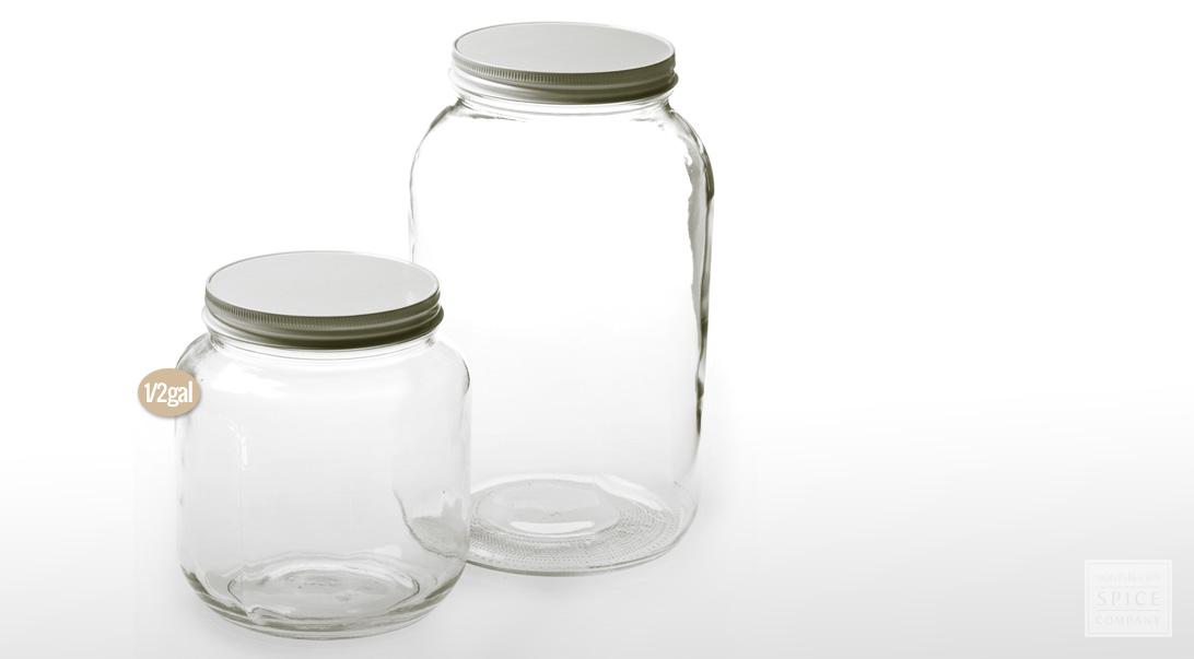12 gallon clear jar w lid