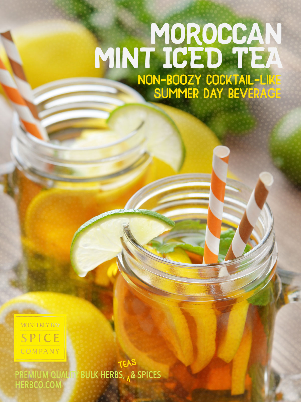[ Recipe: Morrocan Mint Iced Tea with Lemon & Lime ] ~ from Monterey Bay Spice Co