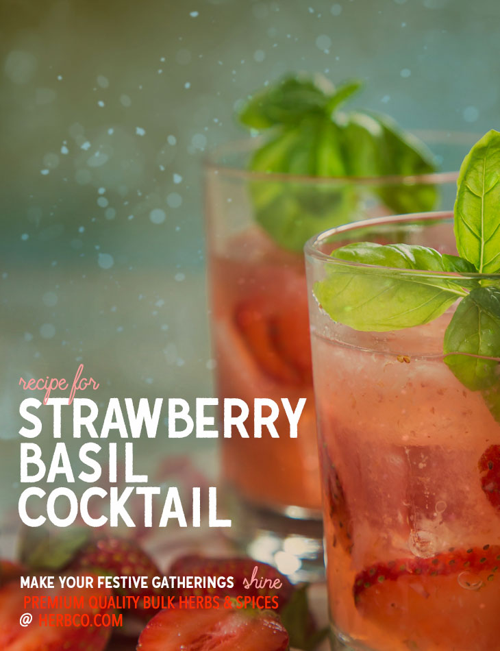[ Recipe: Strawberry Basil Cocktail ]