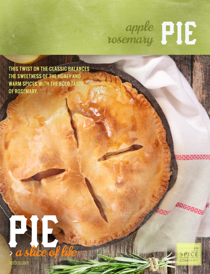 [ Recipe: Apple Rosemary Pie ] ~ from Monterey Bay Spice Co