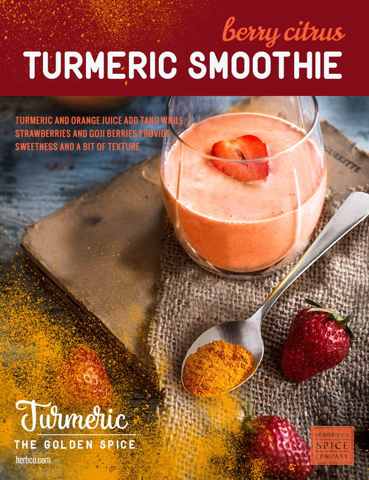 [ Recipe: Berry Citrus Turmeric Smoothie ] ~ from Monterey Bay Spice Co