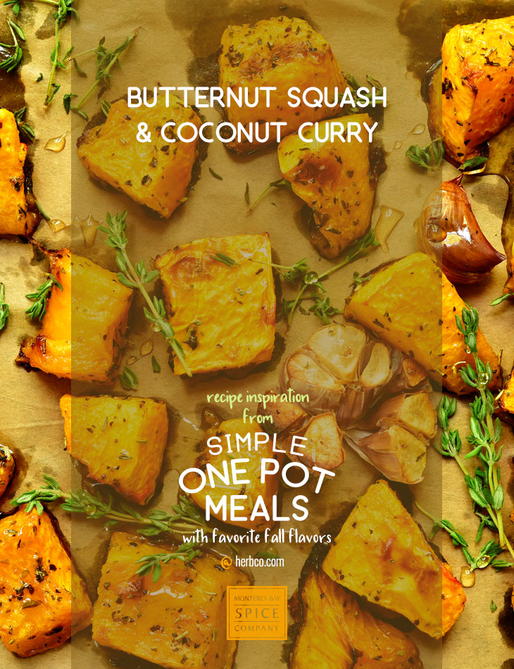 [ Recipe: Butternut Squash and Coconut Curry ] ~ from Monterey Bay Spice Co