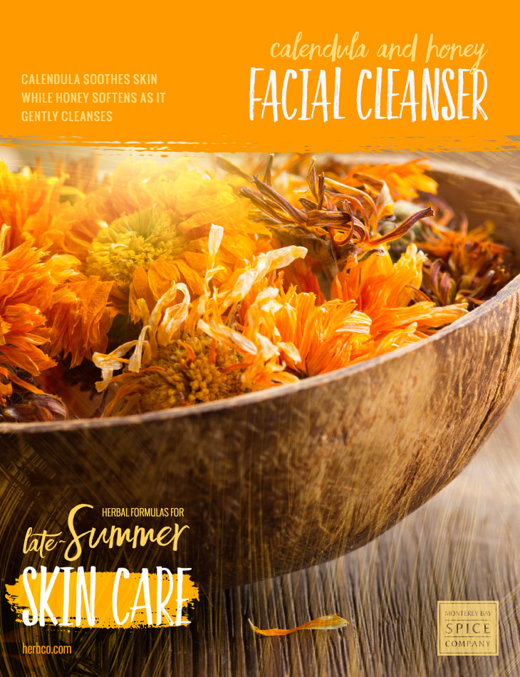 [ Recipe: Calendula and Honey Facial Cleanser ] ~ from Monterey Bay Spice Co