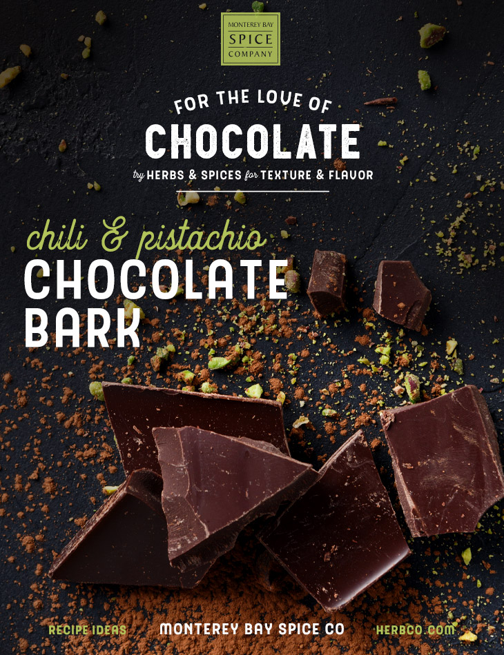 [ Recipe: Chili & Pistachio Bark ] ~ from Monterey Bay Spice Co