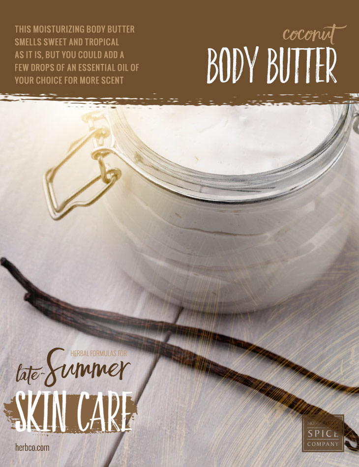 [ Recipe: Coconut Body Butter ] ~ from Monterey Bay Spice Co