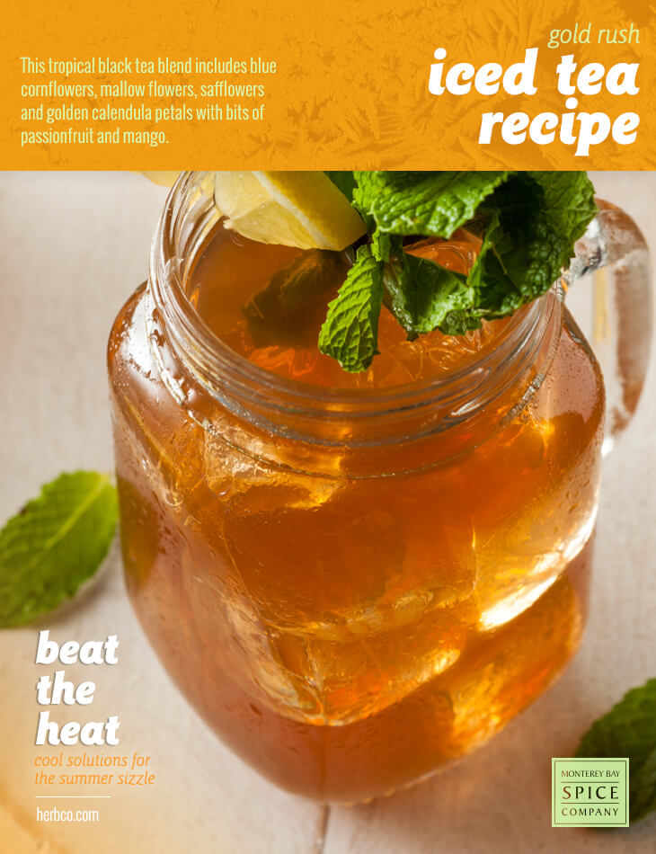 [ Recipe: Gold Rush Iced Tea Recipe ] ~ from Monterey Bay Spice Co
