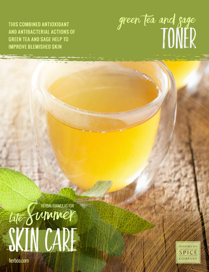 [ Recipe: Green Tea and Sage Toner ] ~ from Monterey Bay Spice Co