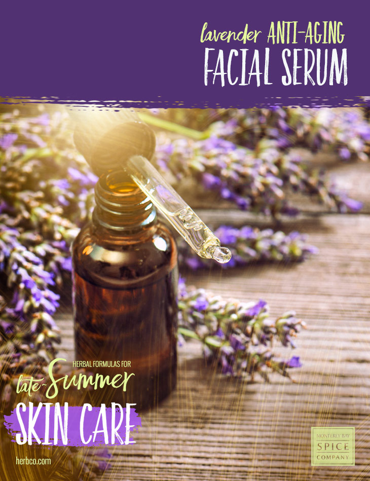[ Recipe: DIY Lavender Anti-Aging Facial Serum ] ~ from Monterey Bay Spice Co