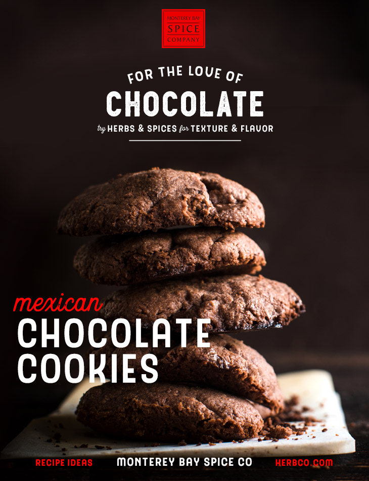 [ Recipe: Mexican Chocolate Cookies ] ~ from Monterey Bay Spice Co