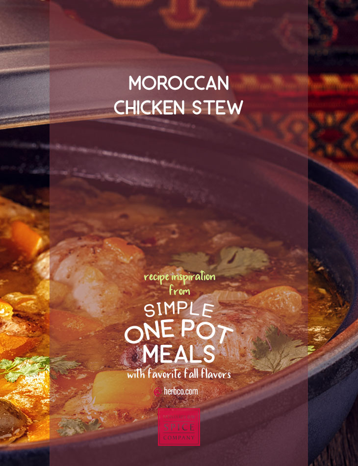 [ Recipe: Moroccan Chicken Stew ] ~ from Monterey Bay Spice Co