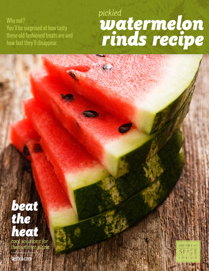 [ Recipe: Pickled Watermelon Rinds Recipe ] ~ from Monterey Bay Spice Co