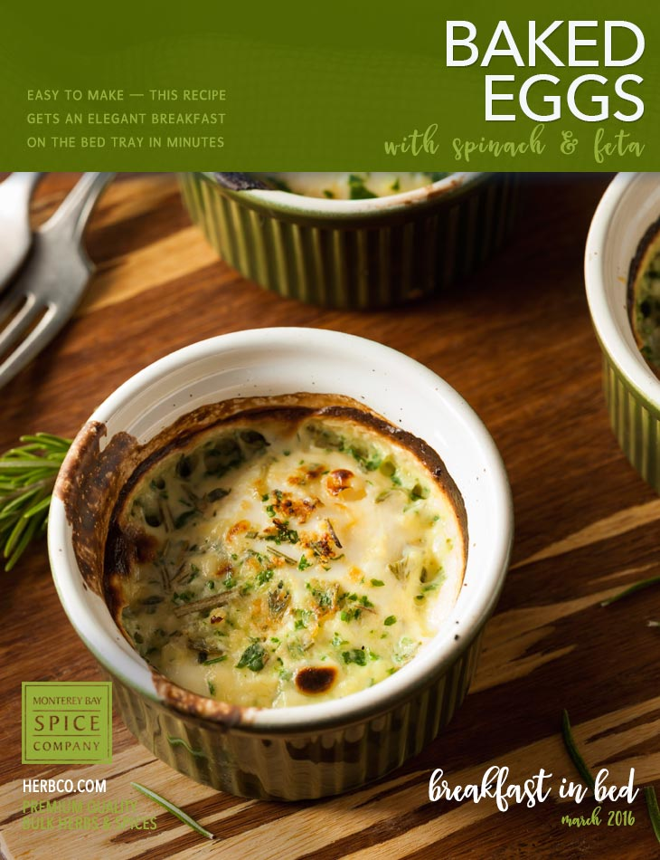 [ Recipe: Baked Eggs ] ~ from Monterey Bay Spice Co