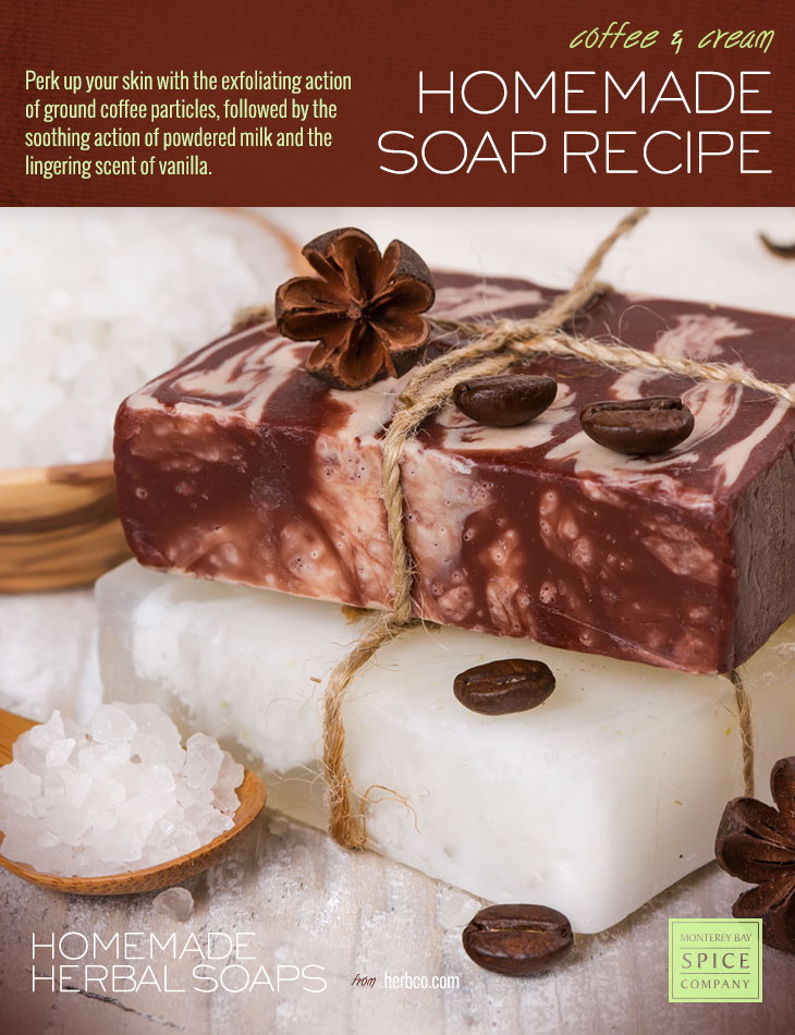 [ DIY: Coffee and Cream Soap - Melt and Pour Method ] ~ from Monterey Bay Spice Co