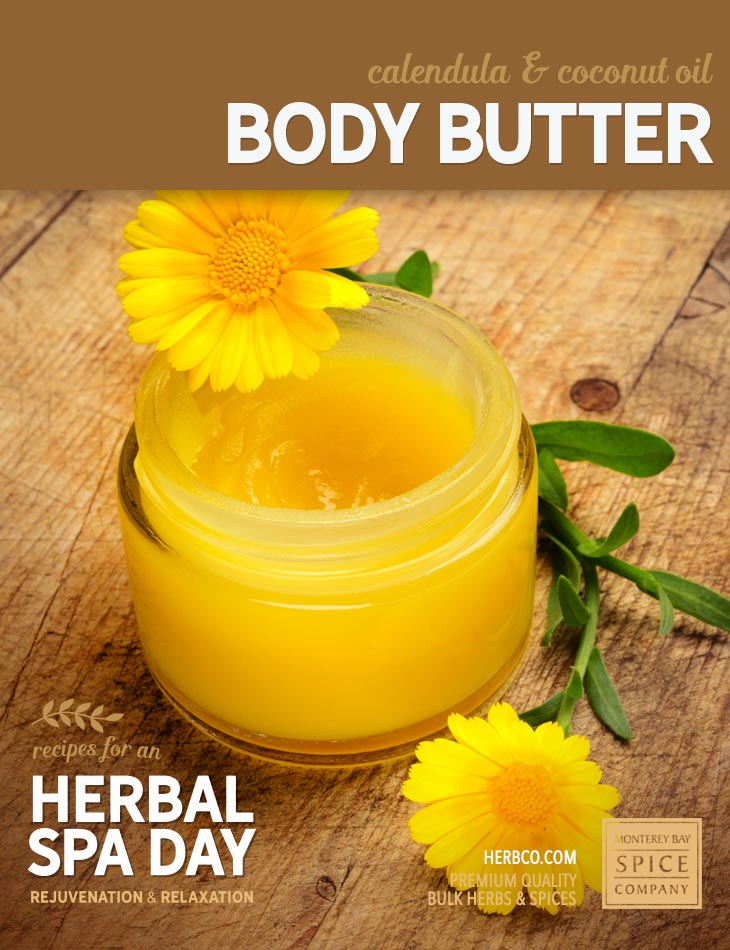 [ Recipe: DIY calendula & coconut body butter ] ~ from Monterey Bay Spice Co