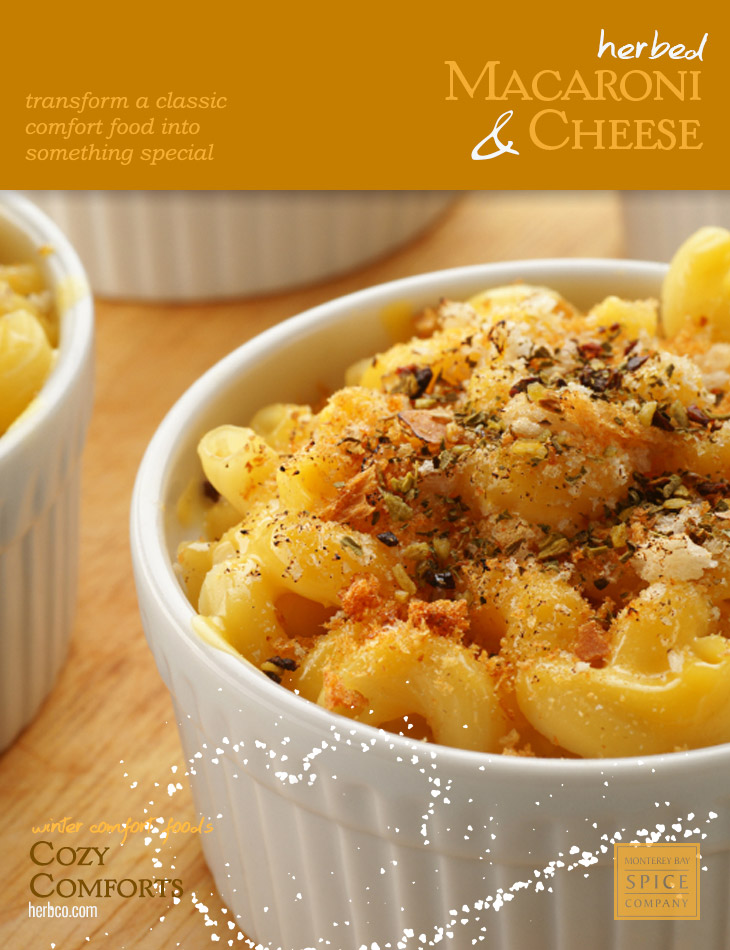 [ Recipe: Herbed Macaroni and Cheese ] ~ from Monterey Bay Spice Co