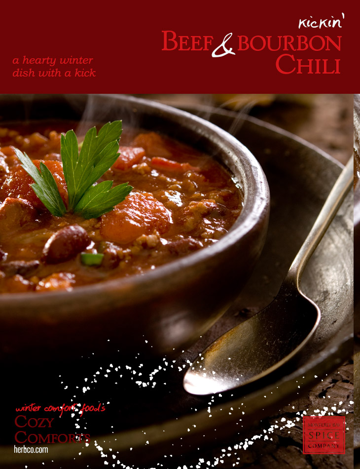 [ Recipe: Kickin' Beef and Bourbon Chili ] ~ from Monterey Bay Spice Co