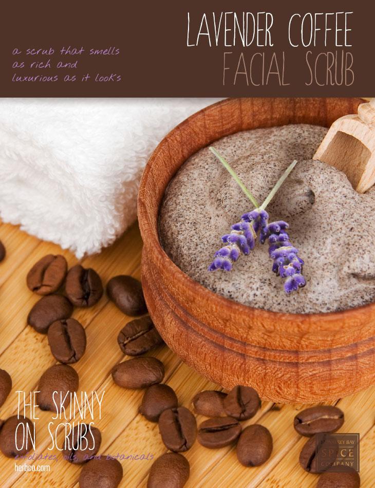 [ Spa Recipe: Lavender Coffee Facial Scrub ] ~ from Monterey Bay Spice Co