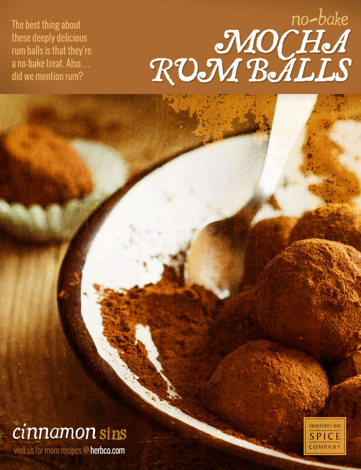 [ Recipe: Mocha Rum Balls ] ~ from Monterey Bay Spice Co