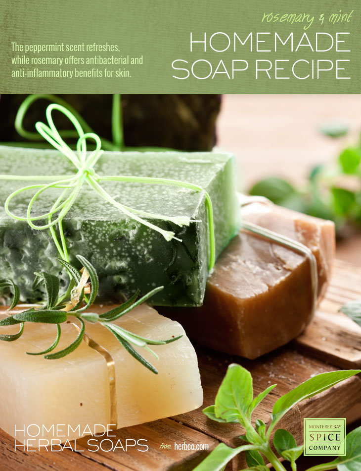 [ DIY: Rosemary Mint Soap - Melt and Pour Method ] ~ from Monterey Bay Spice Co