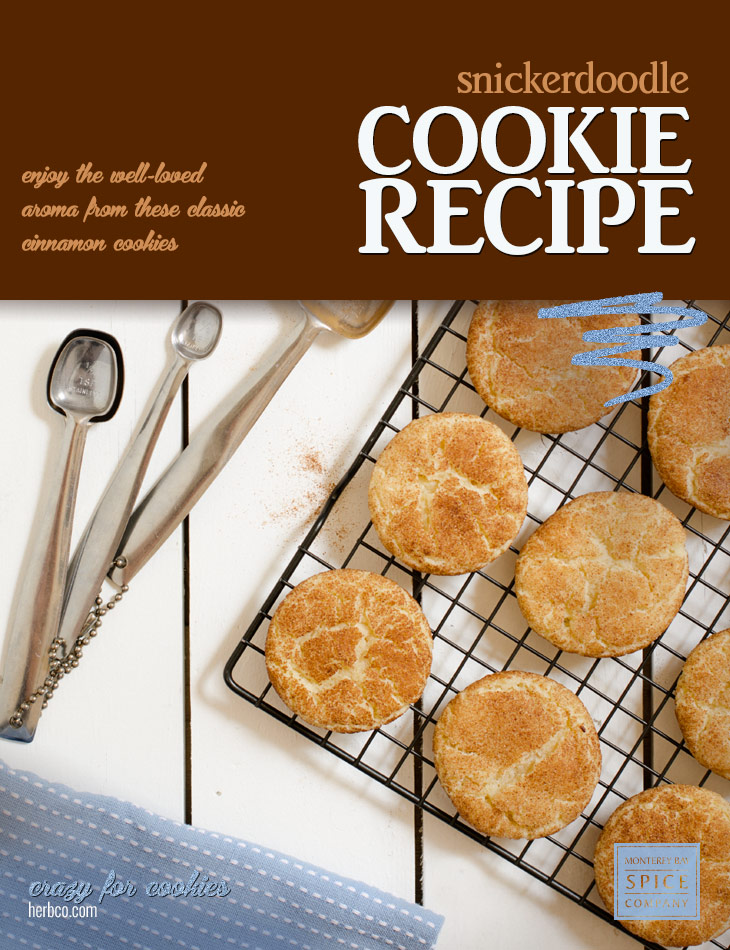 [ Recipe: Snickerdoodle Cookies ] ~ from Monterey Bay Spice Co