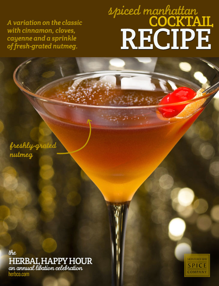 [ Recipe: Spiced Manhattan Cocktail ] ~ from Monterey Bay Spice Co