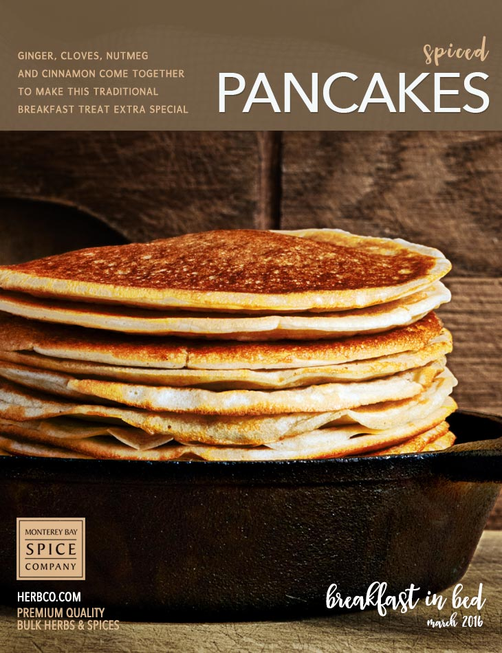 [ Recipe: Spiced Pancakes ] ~ from Monterey Bay Spice Co