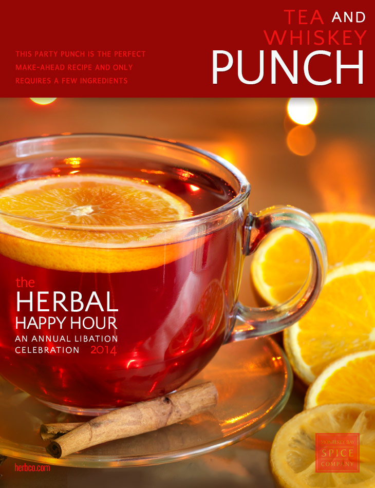 tea and whiskey punch recipe ~ from monterey bay spice co.