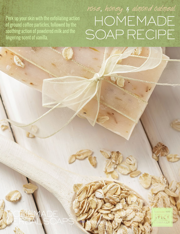 [ DIY: Rose, Honey, and Almond Oatmeal Soap - Melt and Pour Method ] ~ from Monterey Bay Spice Co