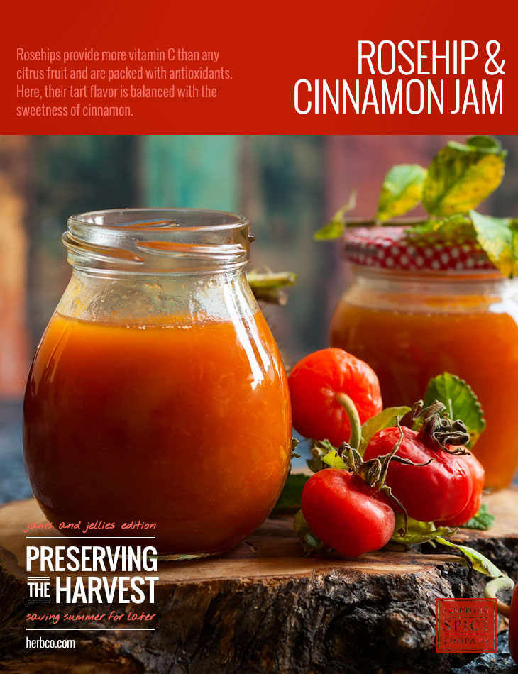 [ Recipe: Rosehip and Cinnamon Jam ] ~ from Monterey Bay Spice Co