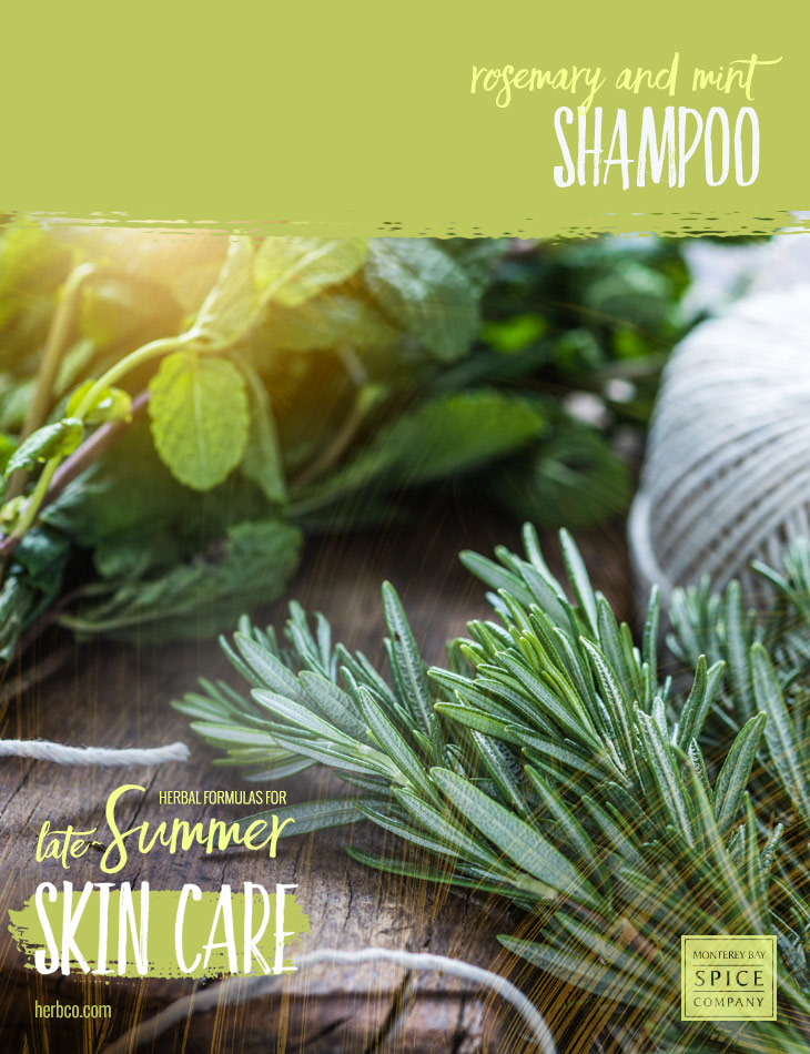 [ Recipe: DIY Rosemary and Mint Shampoo ] ~ from Monterey Bay Spice Co