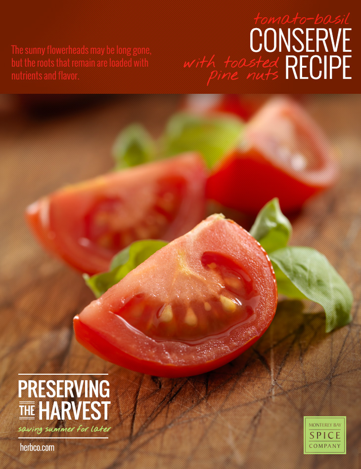 [ Recipe: Tomato Basil Conserve ] ~ from Monterey Bay Spice Co