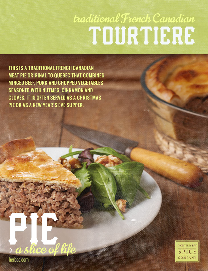 [ Recipe: Traditional Tourtiere ] ~ from Monterey Bay Spice Co