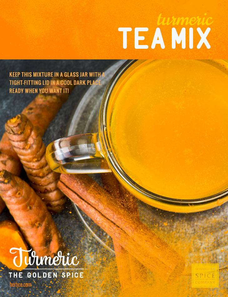 [ Recipe: Turmeric Tea Mix ] ~ from Monterey Bay Spice Co